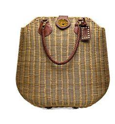 Hazel wicker purse