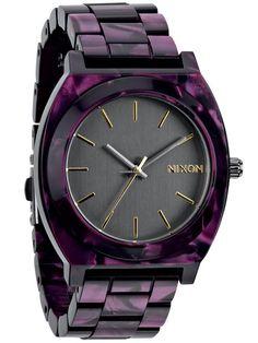 Nixon Time Teller Acetate Gunmetal Velvet A-327-1345 Damenuhr $208 #watch #watches 39mm case material