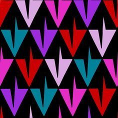 Toothy Mad Diamonds fabric by eclectic_house on Spoonflower - custom fabric