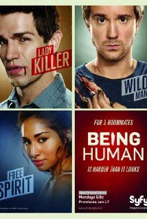 Being Human (2011) is an American remake of the BBC program by the SyFy channel. It is also about a vampire, werewolf, and ghost trying to hold onto their humanity, and it has much the same appeal as the BBC program. It also takes its characters and stories in different directions, so that it remains fresh for those who already saw the BBC program.