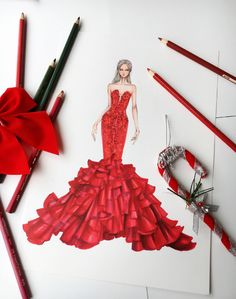 - Best Fashions for All Dress Design Sketches, Fashion Design Drawings, Fashion Sketches, Arte Fashion, Fashion Moda, Fashion Beauty, Fashion Illustration Dresses, Fashion Illustrations, Fashion Sketchbook