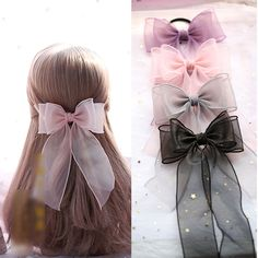 hair bows Buy Elfis Ribbon Hair Clip / Hair Tie at ! Quality products at remarkable prices. FREE Worldwide Shipping available! Ribbon Hair Clips, Ribbon Hair Bows, Diy Hair Bows, Ribbon Flower, Fabric Flowers, Bow Ribbon Diy, Tulle Hair Bows, Flower Hair Clips, Hair Bow Tutorial