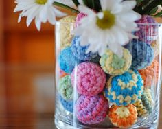 Crochet ball centerpiece from Tangled Happy.