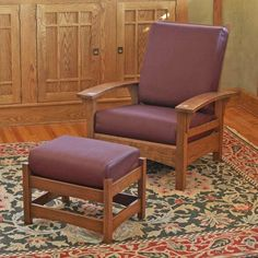 Искусство и ремесла Миссия Моррис кресло и пуфик, Крытый Мебель для дома план проекта | деревянный магазин