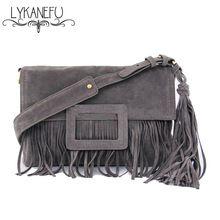 259103900 Scrub PU Tassel bag Women Messenger Bags Small Shoulder Bag for Women  Clutch Purse Designer Handbag