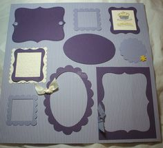 """Fun scrapbook """"frame"""" page for multiple pics"""