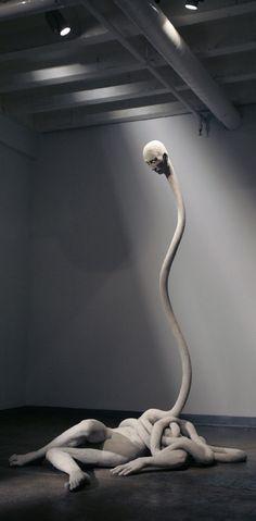 """emilalzamora.com  Emil Alzamora - """"Afterlife Afterthought""""  gypsum, life-size, 2006"""