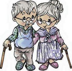 Growing old together.Fod should get a moustache. Adult Coloring, Coloring Pages, Growing Old Together, Old Couples, Grands Parents, Cute Clipart, Art Impressions, Grandparents Day, Digi Stamps