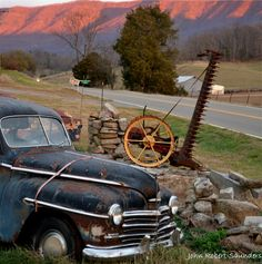 Beautiful old car on the side of the road in the Smoky Mountains. Wears Valley is such a peaceful side of the Smokies.