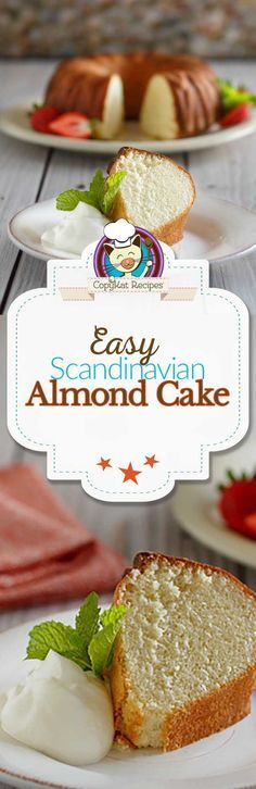 You are going to love this easy to prepare Scandinavian Almond cake. You can make a delicious cake from scratch.