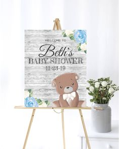 Blue Bear Baby Shower Welcome Sign Baby Welcome Sign Blue Baby Shower Decor Welcome Shower Sign Printable Welcome Sign Printable Sign by MintedDelights on Etsy Baby Shower Welcome Sign, Baby Shower Signs, Baby Boy Shower, Baby Shower Invitation Templates, Baby Shower Printables, Luau Baby Showers, Bear Signs, Teddy Bear Baby Shower, Thing 1