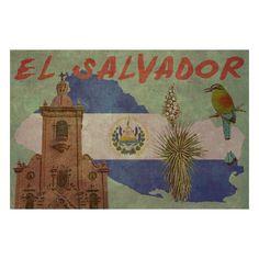 SALVADOR 1F- Handmade Leather Wall Hanging - Travel Art. $29.90, via Etsy.