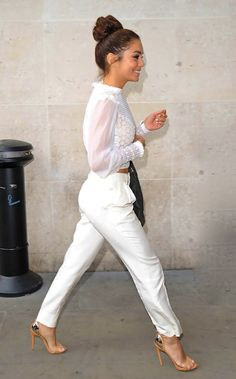 Beautiful white outfit on Vanessa Hudgens