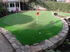 Synthetic Golf Putting Greens and Lawns by Landscaping experts in Dublin and Wickow. Putting greens that give the appearance of fresh green garden grass. Mini Golf, Golf Putting Green, Small Water Features, Green Garden, Garden Landscaping, Lawn, Garden Design, Grass, Golf Courses