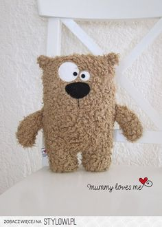 Stuffed Animals Kuschelbär a unique product by KuschelICH bei Sewing Toys, Sewing Crafts, Sewing Projects, Felt Crafts, Fabric Crafts, Kids Crafts, Softies, Sewing For Kids, Diy For Kids