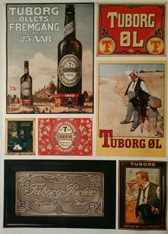 1970s Tuborg Beer Advertisement I collection by OutofCopenhagen