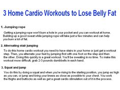 In this section we're going to look at fat burning exercises but you can find a great set of toning exercises in the article: Toning Exercises To Lose Belly Fat. Cardio Workout At Home, Best Cardio, Toning Workouts, At Home Workouts, Best Weight Loss Exercises, Fat Burning Workout, Lose Belly Fat, Burns, How To Plan