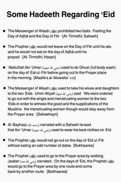 Eid hadeeth
