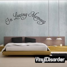 In Loving Memory Text Wall Decal - Vinyl Decal - Car Decal - Mv003