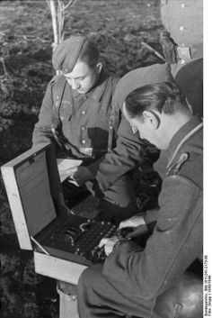 people using an enigma machine - Google Search