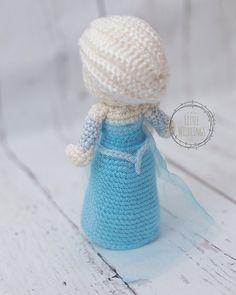 Frozen inspired Elsa crocheted doll