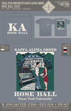 Kappa Alpha Order Rose Ball Shirt | Fraternity Event | Greek Event #kappaalphaorder #kappaalpha #theorder #roseball Kappa Alpha Order, Texas Tech University, Social Events, Fraternity, Greek, Shirts, Rose, Design, Pink