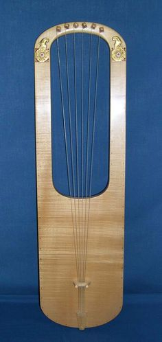 Reproduction of the lyre from the Sutton Hoo royal burial (England), late century AD