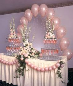 Decorations: Balloon Arch & Table Swags / http://www.balloondecorsecrets.com/?hop=sojourn3#
