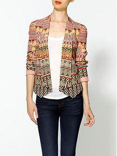 Rebecca Minkoff Becky Chelsea Ikat Silk Jacket