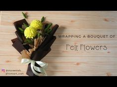 Wrapping Bouquet by S Nuraeni - How to Wrap a Bouquet of Felt Flowers - Tutorial Felt Chrysant Felt Flower Bouquet, Bouquet Wrap, Hand Bouquet, Diy Bouquet, Felt Flowers, Diy Flowers, Pom Pom Crafts, Felt Crafts, Felt Flower Tutorial