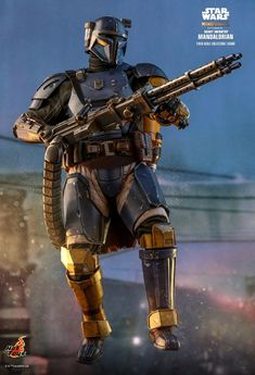 Star Wars - The Mandalorian: Heavy Infantry Mandalorian, Deluxe Figure (fully articulated), Hot Toys Star Wars Saga, Star Wars Jedi, Star Trek, Star Citizen, Mandalorian Cosplay, Star Wars Bounty Hunter, Star Wars Outfits, Star Wars Concept Art, Star Wars Images