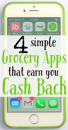 Want to save even more on groceries? These 4 simple grocery apps will earn you cash back AND you can stack the apps with store sales, store, and manufacturing coupons for more savings.