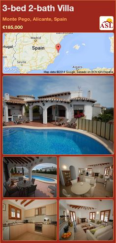 3-bed 2-bath Villa in Monte Pego, Alicante, Spain ►€185,000 #PropertyForSaleInSpain