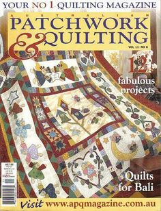 Patchwork Vol 11 - Pimpin Ch. - Picasa Webalbumok plus other patchwork magazines, doll magazines and knitting/crochet flowers Applique Fabric, Applique Patterns, Quilt Patterns, Patchwork Quilting, Quilting Projects, Quilting Designs, Quilting Ideas, Album, Sewing Magazines