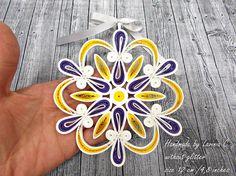 yellow purple christmas ornaments handmadeyellow purple paper