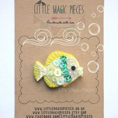 Golden Fish Hair Clip Under the Sea