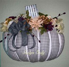 Dollar Tree Pumpkins, Dollar Tree Crafts, Dollar Tree Store, Fall Halloween, Halloween Crafts, Fall Crafts, Diy Crafts, Pumpkin Wreath, Purple Ribbon
