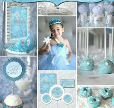 Frozen birthday party Frozen Birthday Theme, Frozen Theme Party, 6th Birthday Parties, Girl Birthday, Birthday Ideas, Party Giveaways, Disney Frozen Party, Party Sweets, Fiesta Party