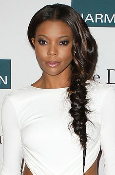 Gabrielle setting the trend for the fishtail braid for the Summer!