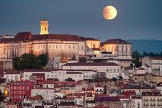 Carlos Dias submitted this photo of the moonrise during the partial eclipse on April 25, 2013 from Coimbra, Portugal.