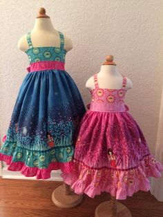 Custom 6-12M 18-24M/2T 3T/4T 5/6 Wee Wander lightning bug dress
