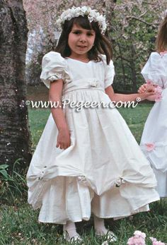 Pegeen Flower Girl Dress Style 968 - Plus Size Communion Dresses are available in every style.