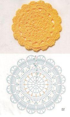Bildergebnis für mandalas tejidos al crochet patrones Motif Mandala Crochet, Crochet Circles, Crochet Doily Patterns, Crochet Diagram, Crochet Round, Crochet Squares, Crochet Chart, Thread Crochet, Diy Crochet