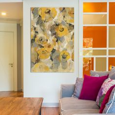 House of Hampton Yellow Floral II Painting Print on Wrapped Canvas Size: