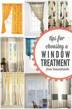Tips for Choosing a Window Treatment @Remodelaholic #spon #windows #curtains