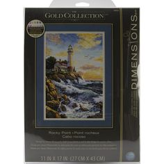 Dimensions Gold Collection Rocky Point Counted Cross Stitch Kit, 11 inch x 17 inch, Multicolor Cross Stitch Love, Counted Cross Stitch Kits, Cross Stitches, Cabo, Dimensions Cross Stitch, Paris Markets, The Sound Of Waves, Rocky Point, Diy Embroidery