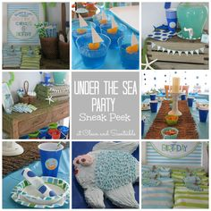 Clean & Scentsible: Under the Sea Invitations {and party sneak peek!}