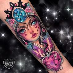 The Dark Magical Girl. 😈🖤🌙🕸 In the Sailor Moon Manga, the Moon Stick was similar in appearance to the one in the anime, but the crescent… Shoe Tattoos, Body Art Tattoos, Tatoos, Pretty Tattoos, Beautiful Tattoos, Gem Tattoo, Sexy Tattoos For Women, Fantasy Tattoos, Queen Tattoo
