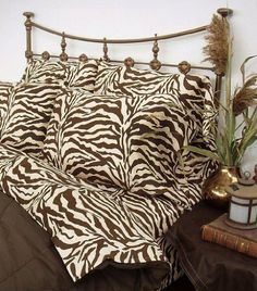 Scent Station Wild Life II Standard Pillow Cases, Brown Zebra, Set of 2 by Scent Sation. $24.99. 100-Percent cotton. 100% Cotton. Tunnel elastic on fitted sheets. 200-Thread count. Sophisticated and exotic, this dramatic ensemble is inspired by animal skins rendered in new large scale graphics and bold shades of ivory and chocolate. The adventurous spirit of a world traveler is captured in this print with rich deep colors in a luxurious and upscale T300 cotton sateen.