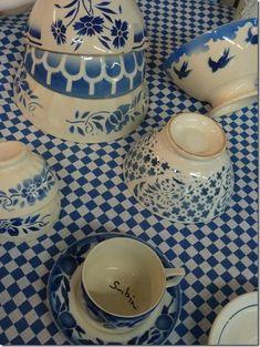 ♥ blue & white